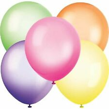 10pk 10in Assorted Neon Balloons Celebration Birthday Party