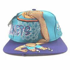 Vintage 90s Charlotte Hornets SLAM Dunk Sharktooth Splash Snapback Hat NWT NBA