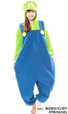 Sazac Super Mario Brothers Luigi Fleece Kigurumi Cosplay Costume Party Pajamas