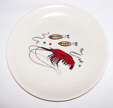 Crown Devon Fieldings England Oceania side plate Langoustine Fish good condition