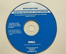 Dell Reinstalling Roxio Easy CD Creator 5.3.4.SP8 Basic System Software 2003