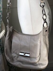 Coach Super Soft Leather Grey Mink Messenger Bag