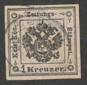 LOMBARDY VENETIA 1858-59 Postage Due for Newspapers 1k used,cat.$ 14,100 / N8423