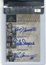 Joe Namath auto Gale Sayers autograph & Drew Pearson #5/5 Graded bgs 9  POP 1/1