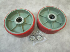Saginaw Products Corp Pair Of Heavy Duty 17195 Caster Wheels Industrial Bearings