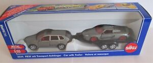 Siku 2544 - Car With Trailer                   1:55 Scale Diecast  NEW