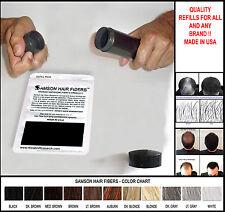Samson Hair Loss Concealer Building fiber refill 300gr BLACK  free shipping USA