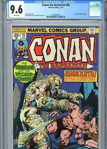 Conan the Barbarian #46 CGC 9.6 White Pages Marvel Comics 1975