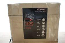 Fairfield Square 6 Piece Cal King Sheet Set Essex StayFit 1200 TC E93278