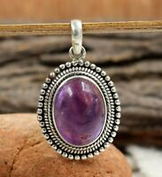 Amethyst Gemstone Women's Wear Gift Pendant Solid 925 Sterling Silver Jewelry