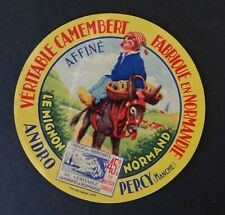 Etiquette fromage CAMEMBERT LE MIGNON Percy Normandie French cheese label 3