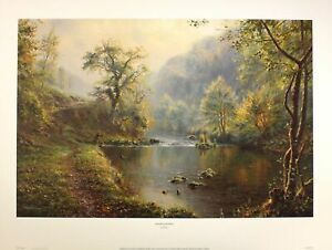 "*Rex Preston* ""PEACEFUL RETREAT"" Print Fishing Art Rare Sold out Last few left!!"