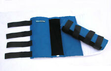 HORSE & WESTERN SALE SET OF 2 PADDED & LINED STANDING LEG WRAPS  BLUE EQUIGUARD