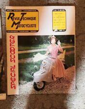 RTM revue technique motocycliste moto n°99 juin 1955 : scooter peugeot s57 moby