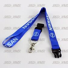 For NISSAN NISMO gtr  BLUE Lanyard Neck Cell Phone Key Chain Strap Quick Release