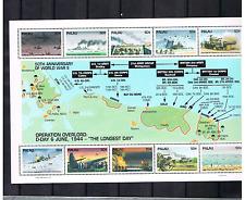 Palau 1994 Block 25 Zweiten Weltkrieges/Karte/Flugzeuge postfrisch