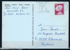 1975/ TIMBRE 50PF - SUR CARTE-LETTRE-SATELLITE.ESPACE - KARLSRUHE - STAMP.Mi.851