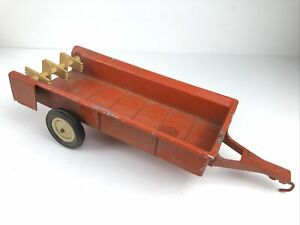 Vintage ERTL Orange Allis Chalmers? Farm Wagon Trailer Toy