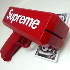 Brand New Supreme SS17 Red Box Logo Cash Cannon Money Gun and 100 Bills
