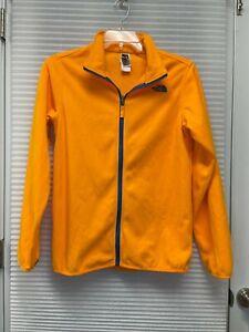 The North Face Boy's Orange Full Zip Fleece Jacket Boys Size X-Large 18/20