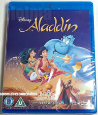 ALADDIN Brand New BLU-RAY 1992 Animated Film Region-Free Walt Disney Movie