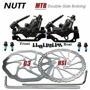 NUTT MTB Bike Disc Brake Bilateral Calipers With Rotors Front Rear Set G3 HS1