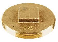 Oatey 42373 185 Brass Cleanout Plug, 3-1/2-Inch