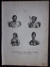 1845c Bewohner Timor litografia H.R. Schinz Honegger inhabitants Timor Indonesia
