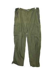 REI Womens Olive Green Convertible Cargo Hiking Outdoor Shorts Pants Size 4/6