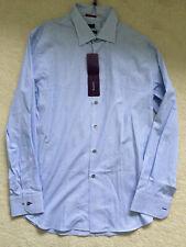 """Paul Smith LONDON LS blue stripe  Shirt  - Size 17.5 / 44 - SLIM fit -  p2p 23"""""""
