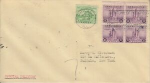 1933 #728 & 729 1c & 3c CENT. OF PROG. FDC SPECL DEL + RPO SERVICED BY KLOTZBACH