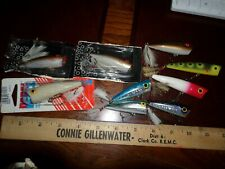 Nine surface popper lures pop R Rebel super and others