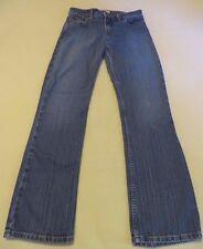 l.e.i. Medium Wash Slim Straight Mid-Rise Jeans - Junior Size 5 Inseam 29