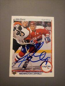1990-91 Upper Deck John Druce Capitals Auto Autographed Signed Card