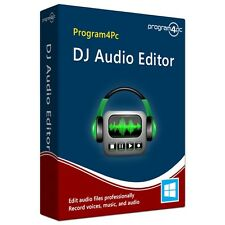 Program4PC Audio Editor, Edit manipulate Cut trim Record audio files