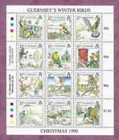 GUERNSEY 1990 CHRISTMAS SHEETLET OF 12 Mint Never Hinged/MNH