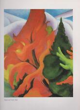 "Georgia O'Keeffe, ""Maple and Cedar (Red)"" -- Offset Lithograph-- Art Print"