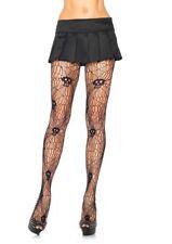 Skull Skeleton Detail Pantyhose Tights Stockings Black Fishnet Goth Halloween AU