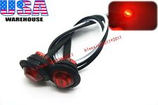 "2PCS 3/4"" Marker Lights Triple Diode LED Truck Trailer Clearance Indicator Red"