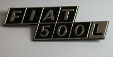 CLASSIC FIAT 500 L BADGE EMBLEM REAR ENGINE BAY BOOT PLASTIC BRAND NEW