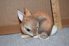 "Franklin Porcelain Figurine Slowpoke Deborah Bell Jarrett 1984 Rabbit 3"" P24"