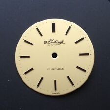 GUILDCRAFT by GRUEN watch dial 24.95 mm dia. 17 jewels, NOS vintage watch parts
