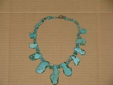 "Weighing 133 Grams Vintage/Antique 18"" Turquoise Necklace"