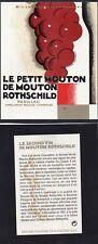 PAUILLAC ETIQUETTE + CONTRE LE PETIT MOUTON ROTHSCHILD DECOREE CARLU   §21/05/18