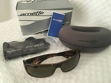 New Arnette Sunglasses Snap 484/73 Yellow Havana Flowers / Brown