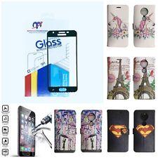 For Motorola Moto E5 PLUS Premium Leather Wallet Case Pouch Flip Phone Cover