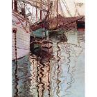 EGON SCHIELE SAILBOATS IN WELLENBEWEGTEM WATER THE PORT TRIESTE ART PRINT 12x16