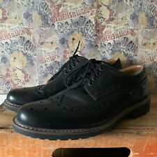 CLARKS UK SIZE 10.5 MENS MONTACUTE WING BLACK LEATHER BROGUES LACE UPS