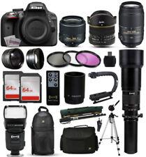 Appareils photo numériques noirs D3300
