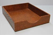 Vintage Original OAK WOOD DOVETAIL Desk Accessory In File Box 1940s Felt Bottom
